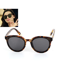 Fashion Leopard Print Leopard Print Decorated Simple Sunglasses