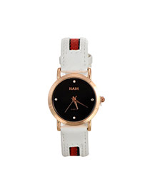 Personality Black Color Matching Design Simple Wrist Watch