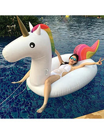 Cute White Pure Color Decorated Horse Shape Swimwear Accessories
