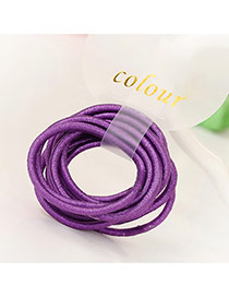 Fashion Dark Purple Pure Color Decorated Simple Hair Band (10pcs)
