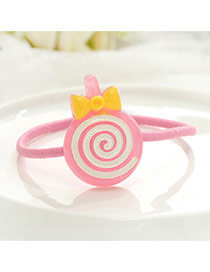 Fashion Pink Lollipop Decorated Color Matching Simple Hair Band