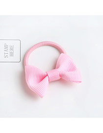 Sweet Pink Bowknot Shape Decorated Pure Color Hair Band