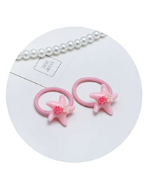 Sweet Pink Starfish Shape Decorated Simple Hair Band(2pcs)