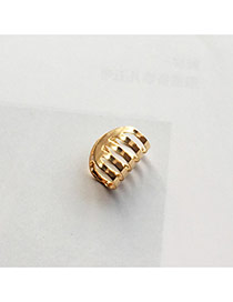 Temperament Gold Color Hollow Out Decorated Multilayer Ear Clip