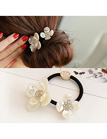 Trendy Yellow Diamond Decorated Flowers Shape Design Hair Band