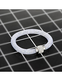 Fashion White Diamond Decorated Pure Color Simple Bracelet