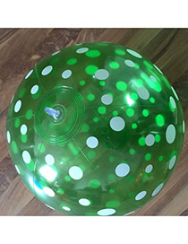 Fashion Green Round Dot Shape Decorated Simple Aerated Beach Ball