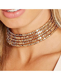 Vintage Gold Color Choker Of Multi-layer Of Bohemio Style