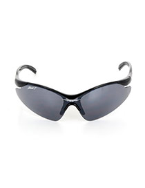 Personality Black Letter 8 Decorated Simple Wing Design Sunglasses