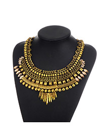 Fashion Gold Color Chain Decorated Irregular Shape Design Necklace