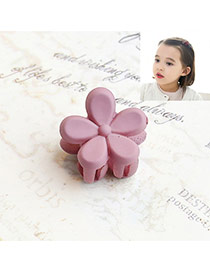 Fashion Purple Flower Decorated Pure Color Simple Hair Pin