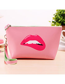 Fashion Pink Cartoon Pattern Decorated Square Shape Design Waterproof Bag