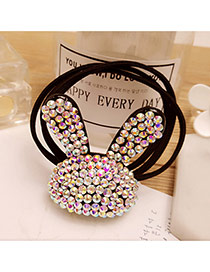 Fashion Multi-color Rabbit Shape Decorated Multi-layer Hair Band