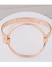 Fashion Gold Color Round Shape Decorated Pure Color Design Bracelet