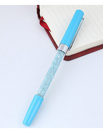 Fashion Light Blue Macadamn Shape Decorated Simple Gel Pen