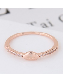 Elegant Rose Gold Pure Color Decorated Lip Shape Design Ring