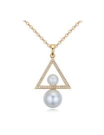Elegant Gold Color Calabash Shape Pendant Decorated Simple Long Chain Necklace