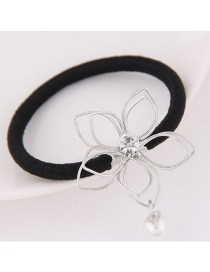 Fashion Silver Color Flower Decorated Hollow Out Simple Hair Band