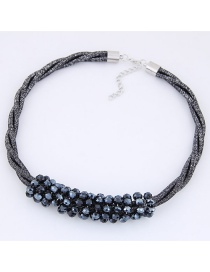 Fashion Gun Black Diamond Decorated Multi-layer Necklace