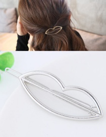 Fashion Silver Color Lip Shape Decorated Pure Color Hairpin