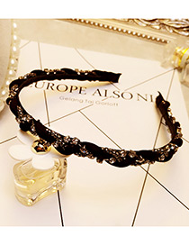 Fashion Black Diamond Decorated Color Matching Simple Hair Clasp