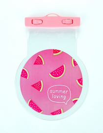 Fashion Pink Watermelon Pattern Decorated Color Matching Waterproof Phone Cover