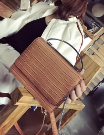 Fashion Yellow Pure Color Decorated Texture Shape Simple Shoulder Bag