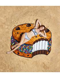 Fashion Multi Color Cake Shape Pattern Decorated Simple Cappa