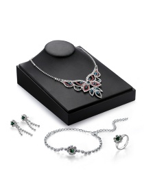 Luxury Multi-color Butterfly Shape Decorated Simple Jewelry Sets (4pcs)