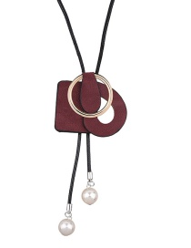 Fashion Red Pearls Decorated Color Matching Simple Jewelry Sets