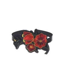 Fashion Mutli-color Embroidery Flower Decorted Color Matching Simple Choker