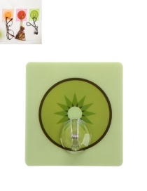 Fashion Green Kiwi Fruit Pattern Decorated Simple Sticky Hook