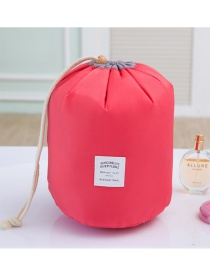 Fashion Plum Red Pure Color Decorated Pure Color Simple Design Make Up Bags
