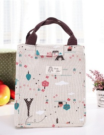 Fashion Multi-color Cartoon Pattern Decorated Square Shape Waterproof Handbag