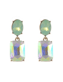 Trendy Multi-color Pure Color Decorated Geometric Shape Simple Earrings