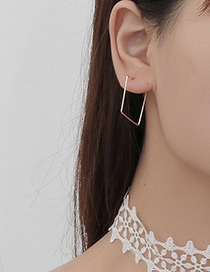 Fashion Gold Color Pure Color Decorated Geometric Shape Earrings(1pcs)