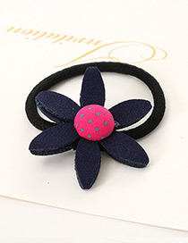 Lovely Navy Sunflower Shape Decorated Simple Baby Hair Band