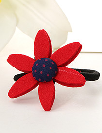 Lovely Red Sunflower Shape Decorated Simple Baby Hair Band