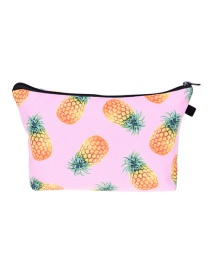 Fashion Pink Printing Horse Pattern Color Matching Cosmetic Bag