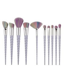 Fashion Multi-color Unicorn Shape Decorated Color Matching Cosmetic Brush (10 Pcs) Reviews