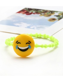 Lovely Yellow Smile Shape Decorated Simple Children Rubber Band