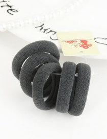 Cute Gray Pure Color Decorated Simple Round Shape Hair Band (5pcs)