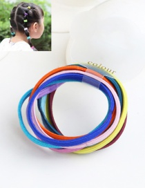 Cute Multi-color Color Matching Decorated Simple Round Hair Band (10pcs)