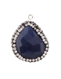 Personality Blue Stone Shape Decorated Simple Irregularity Pendant