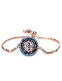 Personality Rose Gold Round Shape Decorated Bracelet