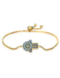 Personality Gold Color Palm Shape Decorated Bracelet