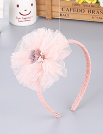 Fashion Pink Flower Decorated Pure Color Hair Clasp
