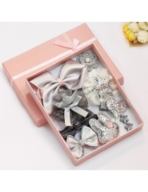 Lovely Gray Bowknot Shape Hair Band (10pcs)