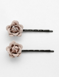 Lovely Beige Flower Decorated Hairpin