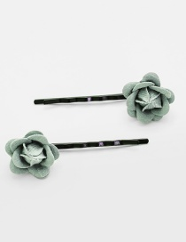 Lovely Light Green Flower Decorated Hairpin